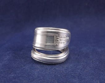 "FREE SHIPPING-Spoon Ring 1921 ""Grosvenor"" Handmade Spoon Jewelry   size 7"