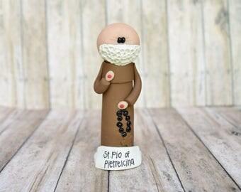 St. Pio of Pietrelcina, Padre Pio, statue, ornament, saint statue, Confirmation gift, Baptism gift, Catholic gift, saint gift