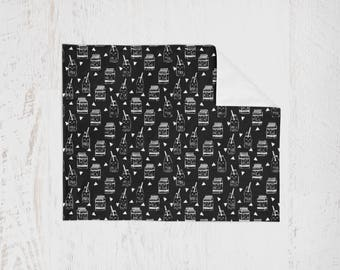 Organic Swaddle Blanket Black/White Milk. Lightweight Baby Blanket. Receiving Blanket. Baby Swaddle. Milk Swaddle. Nursing
