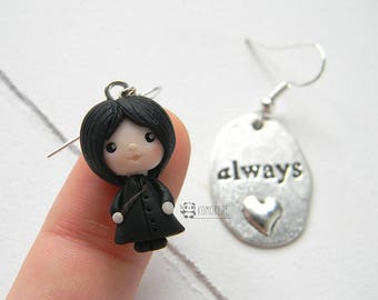 Severus Snape, Snape, Always, Harry Potter inspired, earrings, earrings