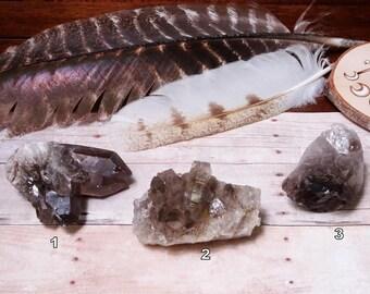 Medium Smokey Quartz Clusters - You Choose -Perfect for Jewelry Making (RK81b8-08)