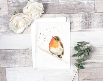 robin card, christmas cards, christmas robin, animal card, animal christmas, handmade card, birthday card, robin christmas card, bird card