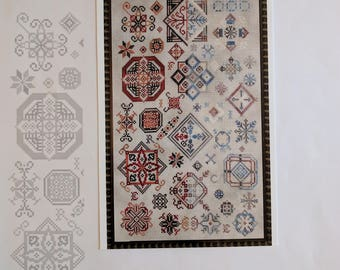 Fire and Ice Counted Cross Stitch Chart Pattern ~ Ship's Manor