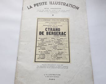 1930s Paper - Antique French Booklet La Petite Illustration- January 28 1939 - Cyrano de Bergerac- Edmond Rostand
