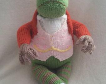 Knitting Pattern For Jeremy Fisher : Beatrix potter frog Etsy