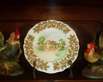 "TWO Vintage Royal Doulton ""Old English Inns"" Dinner Plates"