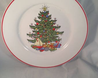 Cuthbertson American Christmas Tree Dinner Plate