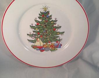 Cuthbertson American Christmas Tree Dinner Plate