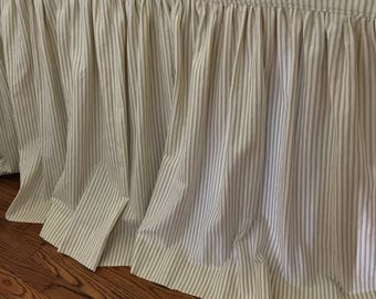 "Sink Skirt - custom Gathered - choose your own fabric and size - 77"" wide x 33 1/2"" long"