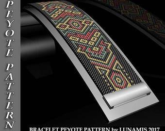 Peyote bracelet pattern, odd count, peyote pattern, stitch pattern, pdf file, pdf pattern, #013P