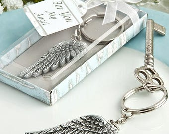 Angel Wing Key Chain - Christening Religious Wedding Favor 24-100 Qty  FC8369