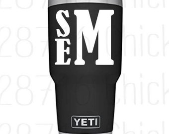 Monogram Decal   Yeti Decal   RTIC Decal   Decal for Man   Vinyl Decal for Male   Male Decal   Vinyl Decal