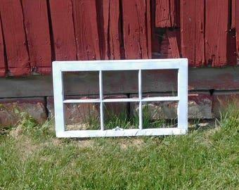 Vintage 6 Pane Window Frame,Antique, Distressed, Home Decor,Wedding Decor,Crafts,No Glass