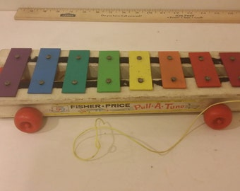 Fisher Price Pull A Tune Xylphone No. 870, 1964
