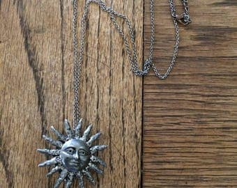 Beautiful Vintage Sun Necklace/Pomander