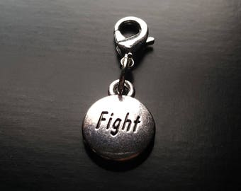 Fight Dangle Charm for Floating Lockets, Necklace, or Bracelets-Antique Silver-Gift Idea