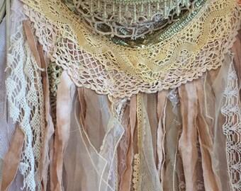 Tattered boho skirt , hippie skirt ,pixie skirt , elven , fairytale skirt , gypsy skirt, Victorian tattered skirt, unique skirt, elven skirt