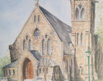 UVA Chapel Watercolor print