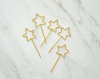 Stars cupcake toppers, Cupcakes toppers, Stars topper, Twinkle twinkle, Wedding cupcakes, Baby shower, Gold stars, Star wars, Constellation