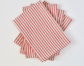 Napkins | Red Ticking | Set of 4