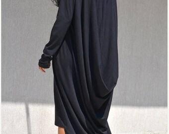loose maxi dress, loose dresses, asymmetric, oversize dress, oversized dress, maxi dress plus size, black maxi dress, loose fit