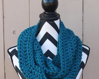 Ready to Ship Teal Infinity Scarf