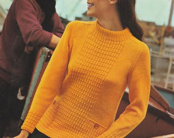 """1970's Sweater Pattern 