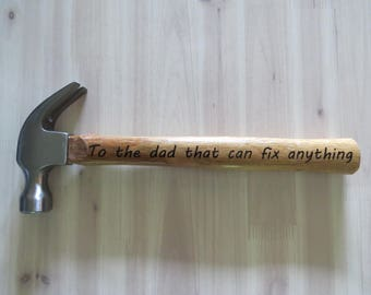 Dad Can Fix Anything, Dad Hammer, Custom Gift for Dad, Man Cave Decor, Father's Day Gift, Funny Gift for Dad, Man Cave, Christmas Gift
