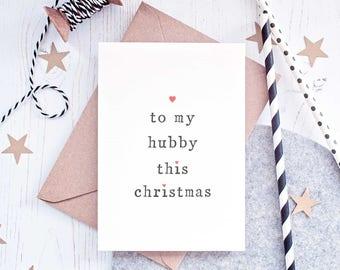 Wifey Christmas Card, Hubby Christmas Card, Husband Christmas Card, Wife Christmas Card, Christmas Card for Husband, Wife and Bump Card