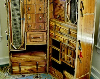 Heart Pine Steamer Trunk