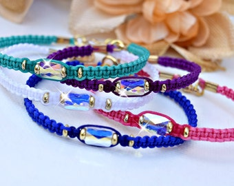 Swarovski Crystal Friendship Bracelet Or Anklet/Bff/Stackable/Bohemian/Summer Jewelry/Fundraiser