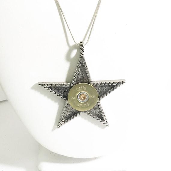 Shotgun Shell Star Necklace, 12 Gauge Shotgun Shell Jewelry, Star Necklace, Shooting Star Necklace, Shotgun Shell Gifts, Shooting Jewelry