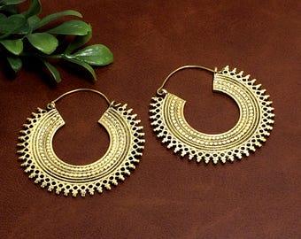 Tribal Design Bras Earring