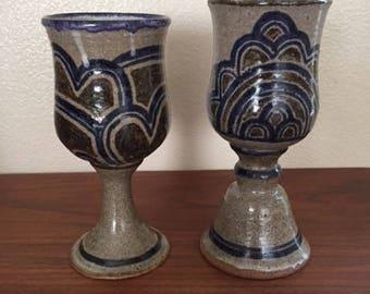 1970s Ceramic Goblets