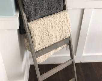 Blanket Ladder - Quilt Ladder - Home Decor - Rustic Decor - Wood Ladder - Ladder - 4 ft Blanket Ladder - Blanket Holder  - Farmhouse Ladder
