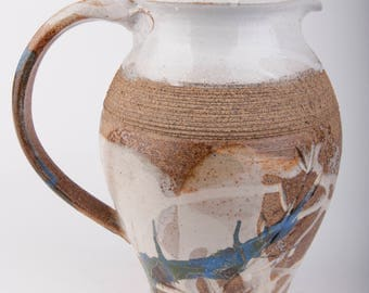 Stoneware water pitcher-Stoneware jug for water
