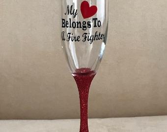 Champane Glass (My Heart Belongs to a Firefighter)