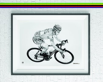Peter Sagan cycling cyclist art print gift