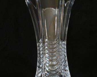 Royal Navy Crown and Anchor Vase Cut Crystal Glass Military Gift ME1