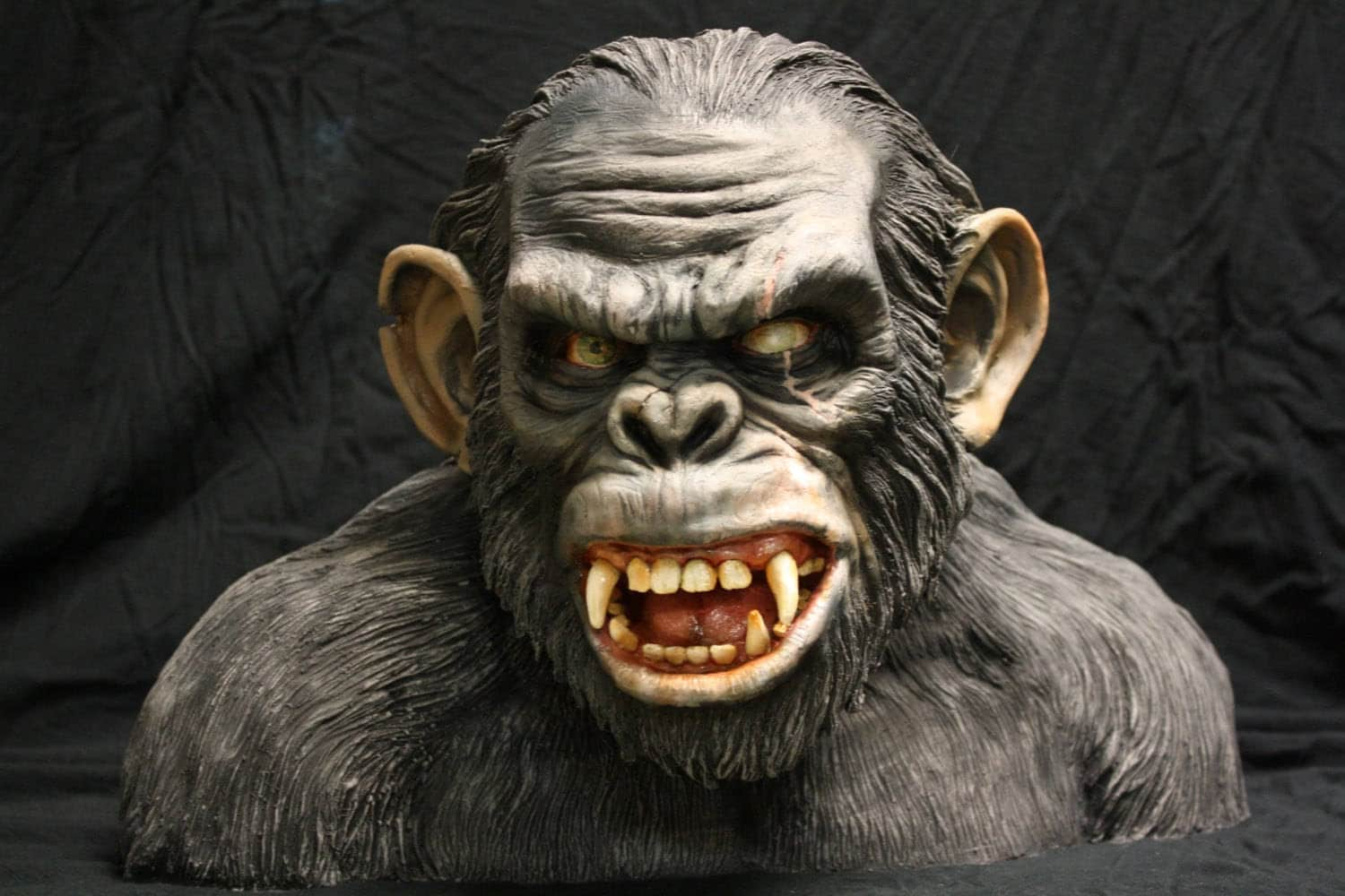 PAINTED planet of the apes Koba bust life size resin