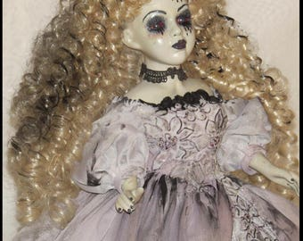 Victorian Horror Doll Southern Belle Corpse Doll Bleeding Doll Zombie Doll NIGHT LIGHT DOLL