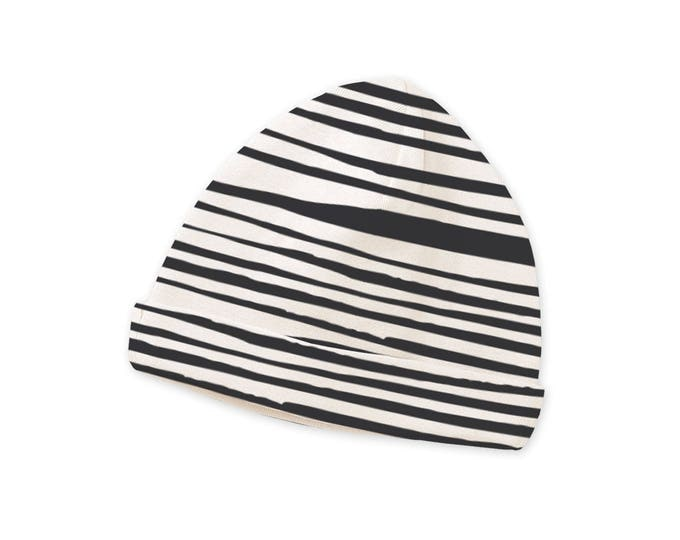Newborn Baby Hat, Newborn Gray Stripe Baby Hat, Baby Hat for Girls, Baby Boy Beanies, Baby Girl Beanies Gray Striped Tesa Babe CP630PL00000