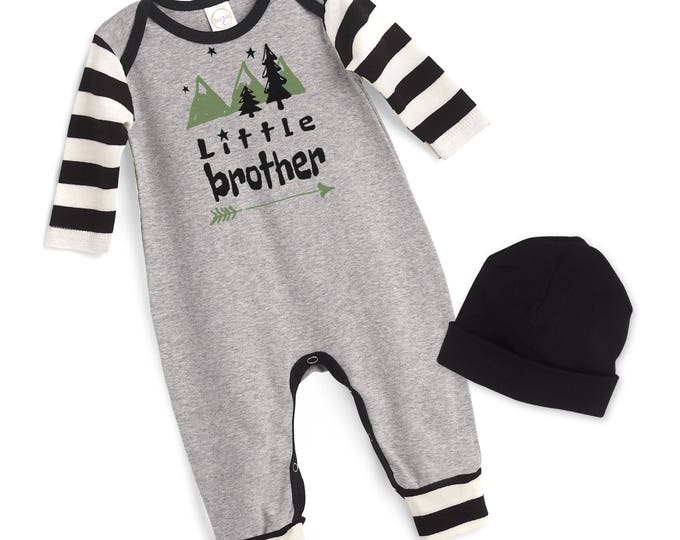 Little Brother Take Home Romper, Baby Boy Coming Home Romper, Baby Little Brother Bodysuit, Little Bro, TesaBabe