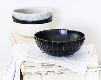 Ceramic Serving Bowl, Soup Bowl, Pottery Serving Bowl, Salad bowl, Urban Kitchen, Modern Pottery Bowl, Pottery Nesting Bowl, Cereal Bowl