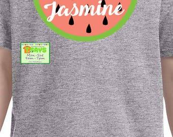 watermelon shirt, personalized watermelon shirt, delicious watermelon shirt, summer shirt