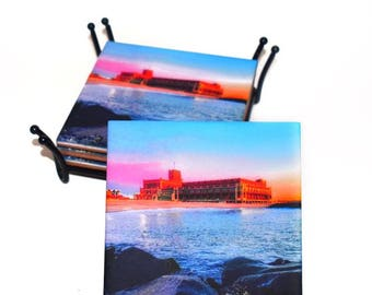 Asbury Park New Jersey Ceramic Tile Drink Coaster(s) / Historical Conventiona Hall in Asbury Park / Sold in Set of 4 or Individually