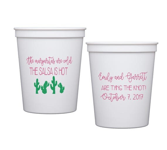 Fiesta wedding shower cups