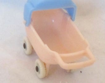 Vintage Doll House Baby Carriage