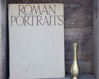 Roman Portraits Book, Art Book, Roman Busts, Coffee Table Book, Phaidon, Harrison and Sons, Worn Book, Hardcover,Photography,Black and White