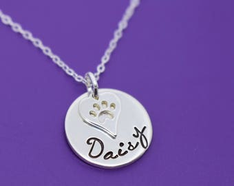 Pet Memorial Gift - Personalized Pet loss Gifts Necklace - Dog - Cat - Jewelry - Dog Remembrance - Fur Baby - In Memorial - Sympathy Gift
